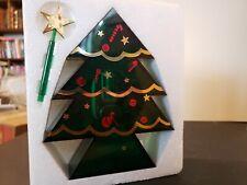 Vintage Clear Green Music Box Christmas tree