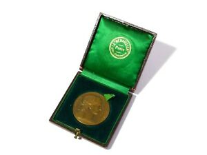 1903 Bronze French Medal Workers + Agriculture Mr. Sondet in Original Box #CH31