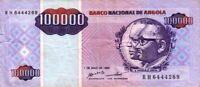 Angola banconota 1995 nove di 100000 kwanzas riadattato pick 139 UNC