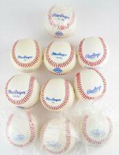 Lot of 10 New Leather Baseball Balls Rawling Ripken MacGregor Louisville Slugger