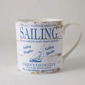 Martin Wiscombe Retro Sailing Mug - By The Sea Range - Large Range in Stock