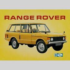 Range Rover Todoterreno Coches De época Británica Publicidad Placa-Repro 119