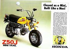 1976 HONDA Z50J 2 page  Motorcycles  Brochure NOS