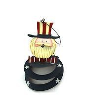 Uncle Sam Metal Spiral Mobile Usa Patriotic Decoration 4th of July Independence