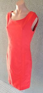 ❤️ JACQUI-E Cocktail Sleeveless Pencil Dress Red Size 12 Buy7=FreePost L840
