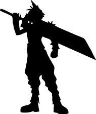 Final Fantasy Cloud Strife Silhouette Vinyl Decal Sticker for Car/Window/Wall