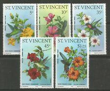 STAMPS-ST VINCENT. 1986. Humming Birds Set. SG: 487/91.  Mint Never Hinged