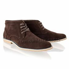 Mens Boys Suede Desert Lace Up Casual Smart Chelsea Chukka Ankle Boots Shoes