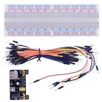 Solderless Breadboard 3.3V 5V Power Supply Module 65Pcs Jumper Cables MB-102