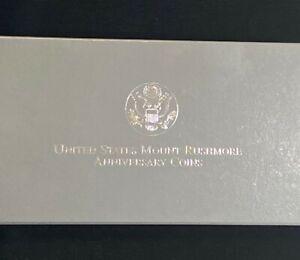 1991 Proof Silver Dollar Mount Rushmore Anniversary Commemorative S$1 Coin
