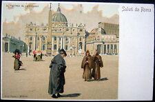 ITALI~ITALIA~1900's ROME ~ SALUTI DA ROMA ~ S. PIETRO IN VATICANO ~ Artist PC