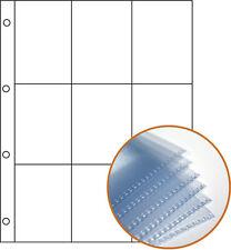 A4 9 Bolsillo Mangas-diapositivas & moneda de almacenamiento calidad de archivo (paquete de 10)