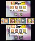1854- 2004 First Philippine Stamp 150th YEAR 4v + S/S + Ovpt POSTPEX S/S mint NH