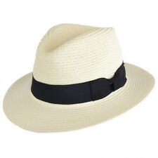 Packable Straw Summer Panama  Fedora  Hat With Band New