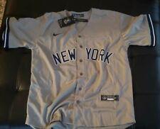 New York Yankees #2 Derek Jeter Grey No Name Jersey - Size XL