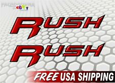 """2 RUSH Racing Decals 9"""" Graphics Polaris Snowmobile Sled 600 800 Parts Sticker"""