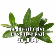 Foglie di Olivo-Ulivo intere per tisana DRIED OLIVE LEAVES 100% BIOLOGICHE g.150