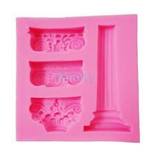 Marble Pillar Cake Mold Silicone Fondant Mould Chocolate Jelly DIY Pudding