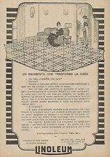 Y0561 LINOLEUM un pavimento che trasforma la casa - Pubblicità d'epoca - Advert.
