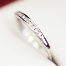 Lovely Diamond and  Platinum half eternity ring, wedding band, with 9 channel se