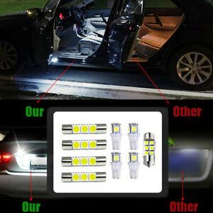 9Pcs Car Interior LED Lamps Package Kit For Map Reading License Plate Light Bulb