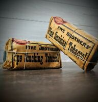 Five Brothers Vintage Pipe Smoking Tobacco Empty Display Pack, Finzer Bros.
