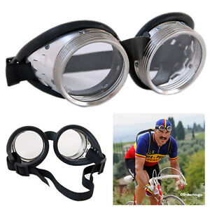 L'Eroica Vintage Style Round Steel Frame Cycling Goggles Retro 1940/50's