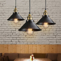 Vintage Industrial Metal Hanging Ceiling Lamp Pendant Light Fixture For Parlor