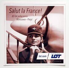 LOT Polish Airlines Salut la France Postcard (Airline Issue)