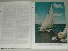 1951 magazine article Long Island New York, color photos