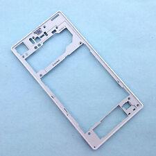 100% Original Sony Xperia Z1 traseras de plástico borde Bisel Tapa Trasera De Inserción Blanco C6903