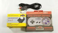 SNES AC Adaptor Power Supply + AV Cable Cord + PGS CONTROLLER (Super Nintendo)