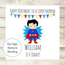 Tarjeta De Cumpleaños Personalizada Superman Superhéroe niño hijo sobrino hermano edad 2nd 3rd