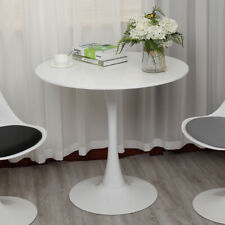 """31.5"""" White Tulip Side End Table Round Dining Table Mid Century Home Furniture"""