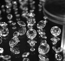 200 x 8mm Clear Crystal Diamond Table Scatter Acrylic Wedding Party Decoration