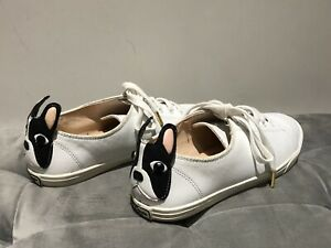 Authentic Kate Spade New York Lucie French Bulldog Dog Sneakers Women's 6.5