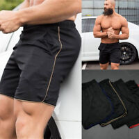 USA Men Swim Fitted Shorts Bodybuilding Workout Gym Running Tight Lifting Shorts