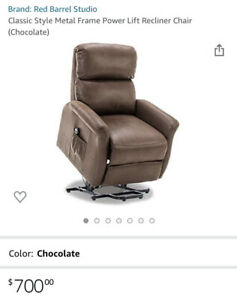 CLASSIC STYLE ELECTRIC POWER LIFT CHAIR RECLINER FOR ELDERLY AND DISABLED BROWN