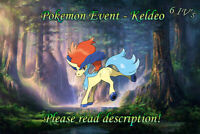 Keldeo Event 6IV - Pokemon X/Y OR/AS S/M US/UM Sword/Shield