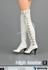 1/6 Female Shoes Over The Knee High Heel Boots For Hot Toys Phicen in stock