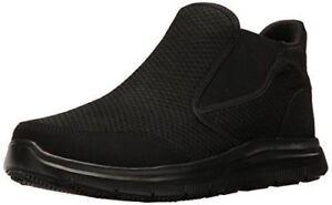 77106 Skechers Work Mens Flex Advantage Lilburne Slip Resistant Shoes Black A4