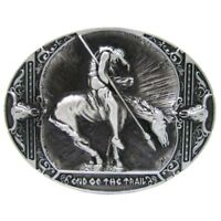 Alloy Vintage Indian Belt Buckle Western Knight Motorcycle Rodeo Cowboy Oval