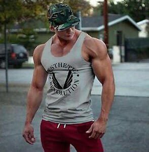 Gym Men Bodybuilding Tank Top Muscle Stringer Athletic Fittness Shirt Clothes