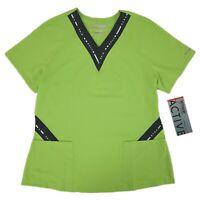 Grey/'s Anatomy Scrub Top Women/'s Mock Wrap Princess 41101-905 Steel