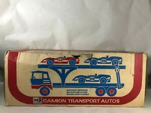CAMION TRANSPORT AUTOS car carriere 0602 latta TIN TOY Joustra NEUF NEW NUOVO