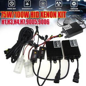 H1 H3 H4 H7 H8/9/11 9005/6 75W 100W Car Xenon Headlight Bulbs Ballasts HID Kit