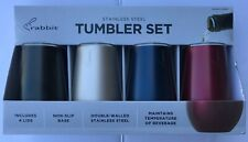 Rabbit Stainless Steel 12 oz Tumbler Set - 4 Tumblers with Lids