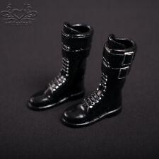 ❶❶1//6 kumik shoes Black Widow Catwoman women black Wedge long Boot US seller❶❶