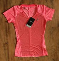 ASICS fuzeX V-Neck Laufshirt Damen Gr XS Women Tanktop 141214-0688 Pink Rosa