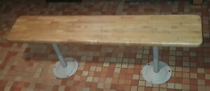 1950's MID CENTURY BASKETBALL BENCHES LOCKER ROOM SEATING BUTCHER BLOCK MAPLE A+